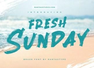 Fresh Sunday Brush Font