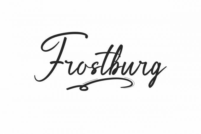 Frostburg Script Font