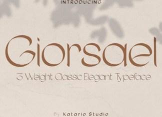 Giorsael Display Font