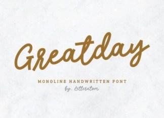 Greatday Script Font