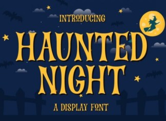 Haunted Night Display Font