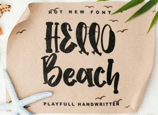 Hello Beach Display Font