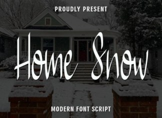 Home Snow Script Font