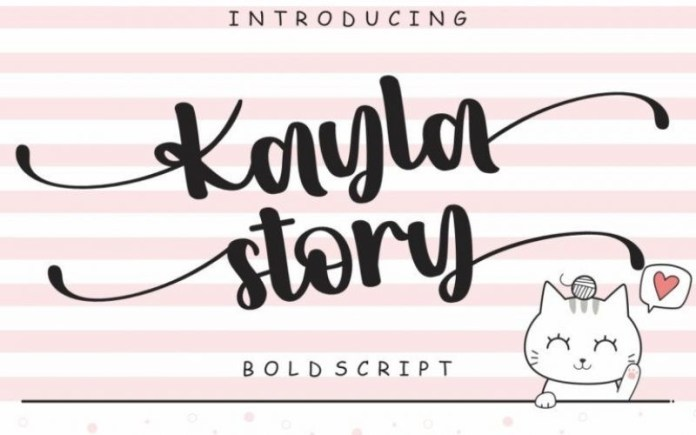 Kayla story Calligraphy Font
