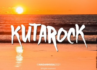 KutaRock Display Font