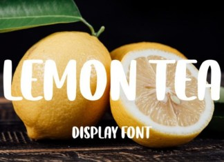 Lemon Tea Display Font