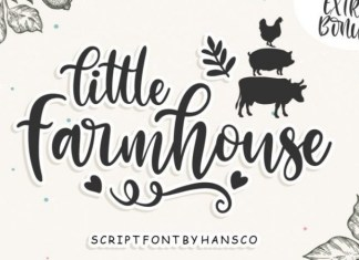 Little Farmhouse Calligraphy Font