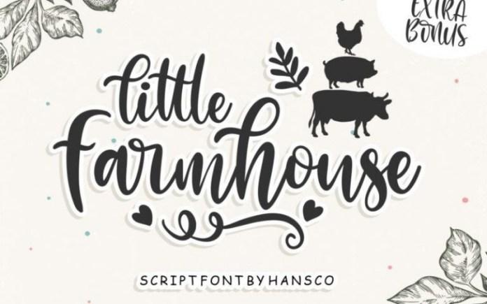 Little Farmhouse Calligraphy Font