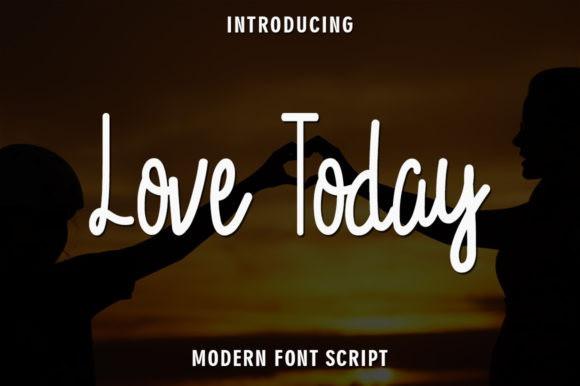 Love Today Handwritten Font