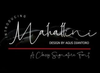 Mahallini Handwritten Font