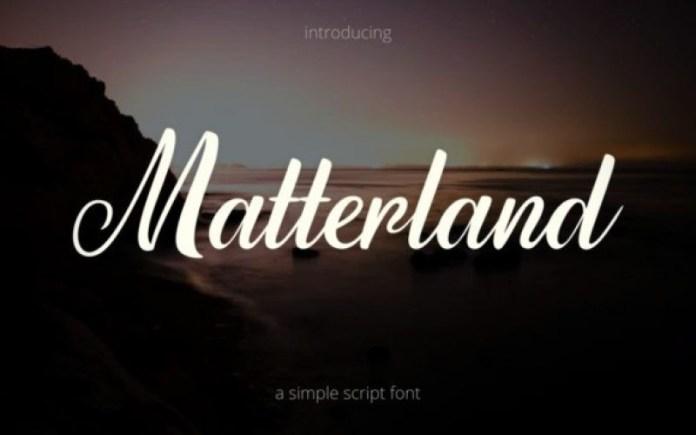 Matterland Calligraphy Font