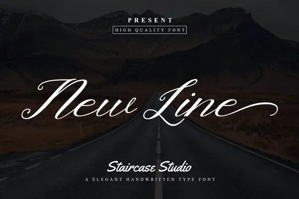 Newline Calligraphy Font