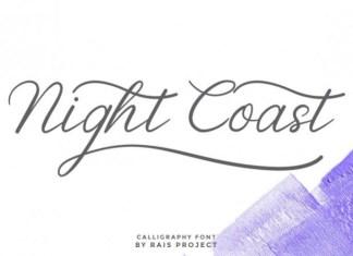 Night Coast Calligraphy Font