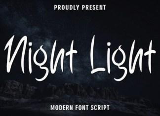 Night Light Brush Font