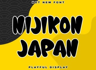 Nijikon japan Display Font