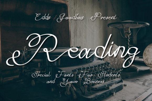 Reading Script Font