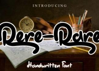 Rere-Rare Script Font