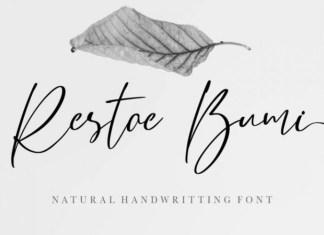 Restoe Bumi Handwritten Font