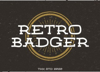 Retro Badger Display Font