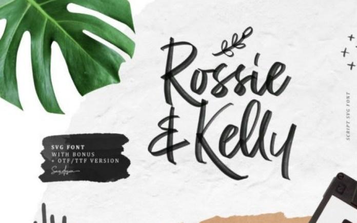 Rossie Kelly Brush Font