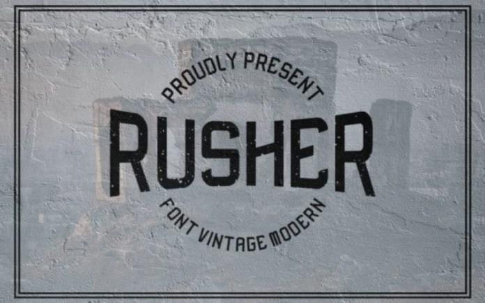 Rusher Display Font