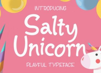 Salty Unicorn Script Font