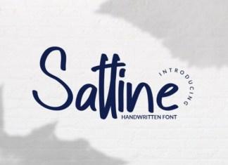 Sattine Script Font