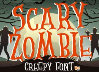 Scary Zombie Display Font