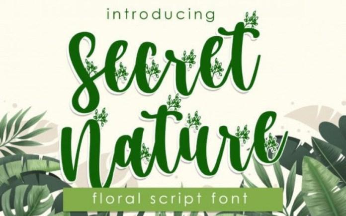 Secret Nature Script Font