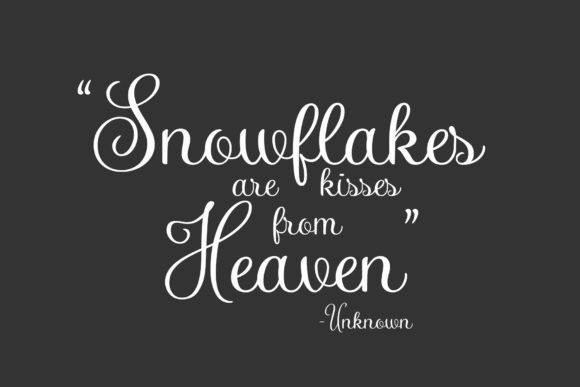 Snow You Calligraphy Font