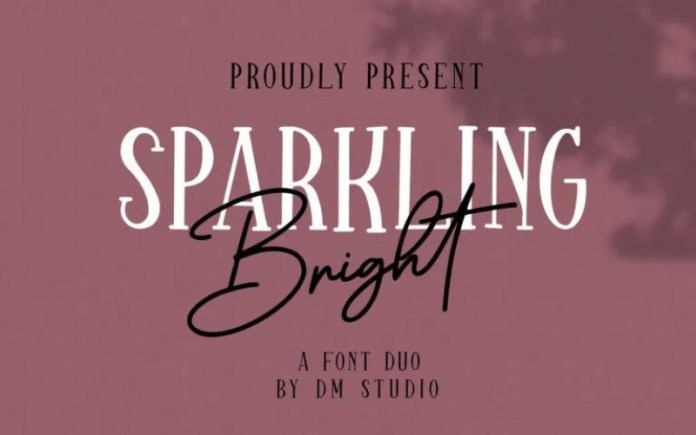 Sparkling Bright Font Duo