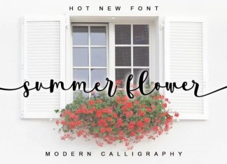 Summer Flower Script Font