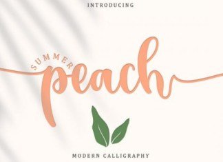 Summer Peach Calligraphy Font