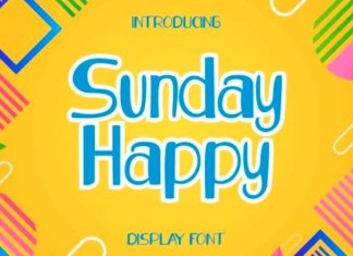 Sunday Happy Display Font