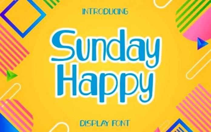 Sunday Happy Display Font