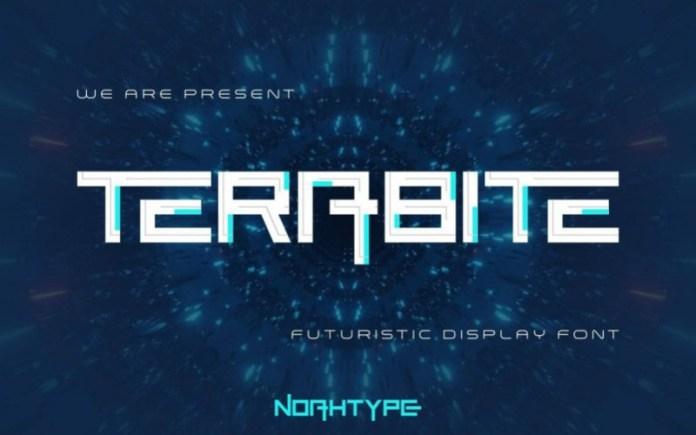 Terabite Display Font