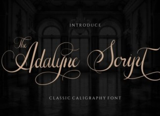 The Adelyne Calligraphy Font