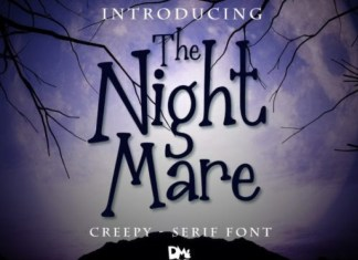 The Nightmare Display Font