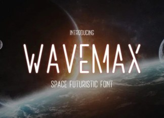 Wavemax Display Font