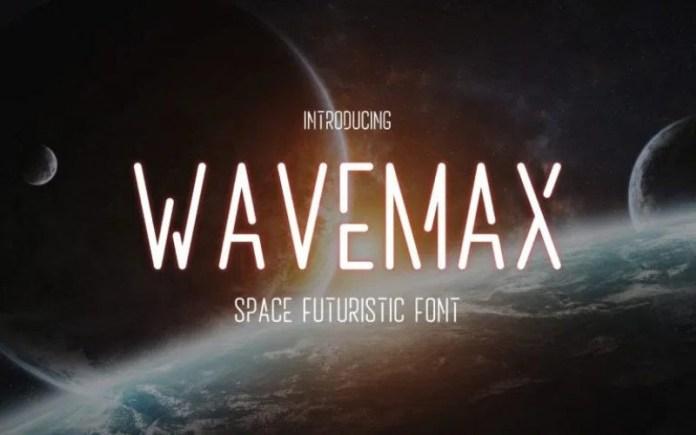 Wavemax Display Font