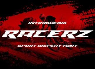Racerz Display Font