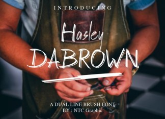 Hasley Dabrown Brush Font