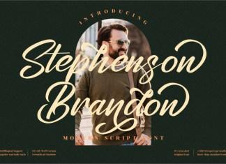 Stephenson Brandon Brush Font