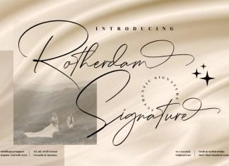 Rotherdam Signature Script Font
