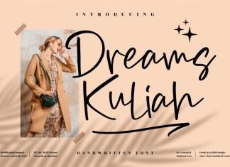 Dreams Kuliah Handwritten Font