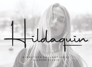 Hildaquin Handwritten Font