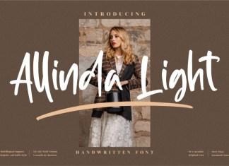 Allinda Light Script Font