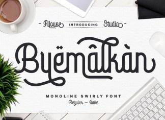 Byemalkan Display Font