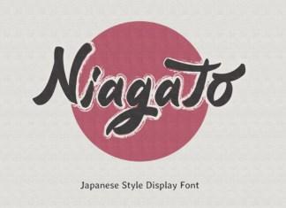Niagato Brush Font