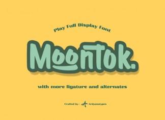 Moontok Display Font
